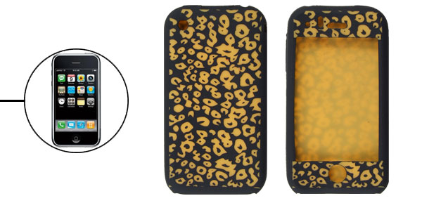 Black Yellow Soft Silicone Skin Case Cover for iPhone 3G 3GS
