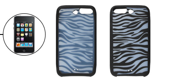 Zebra Pattern Silicon Skin Case for iPod Touch 3G