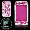 Fuchsia Zebra Pattern Silicon Skin Case for iPhone 3G