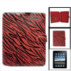 Zebra Printed Red Black Faux Leather Magnetic Clasp Protector for...