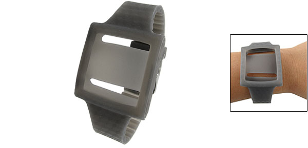 Sports Style Gray Silicone Wrist Strap for iPod Nano 6