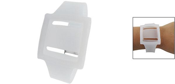 Watch Design Silicone Wrist Strap Case White for iPod Nano 6