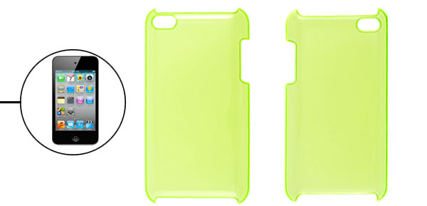 Yellowgreen Plastic Hard Case Back Cover for iPod Touch 4G