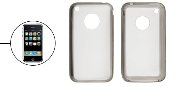 Gray Plastic Back Case Cover for iPhone 3G 3GS
