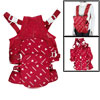 Sponge Padded Infant Carrier Red Backpack w Headrest