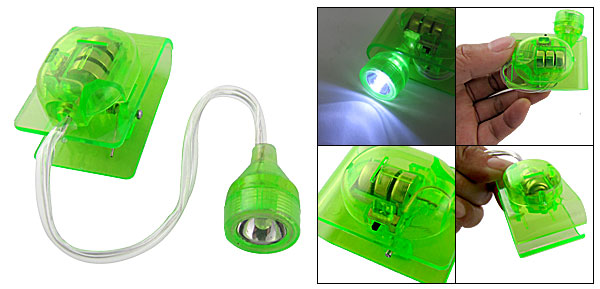 Flexible White LED Light Green Clip Lamp for Reading