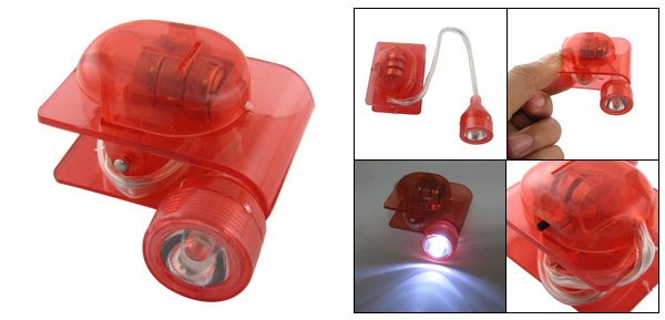 White LED Lighting Flexible Red Lamp Plastic Clip for Home Desk