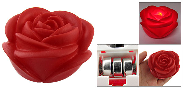 Home Romantic Red Rose Desk Lamps Bedroom Night Light