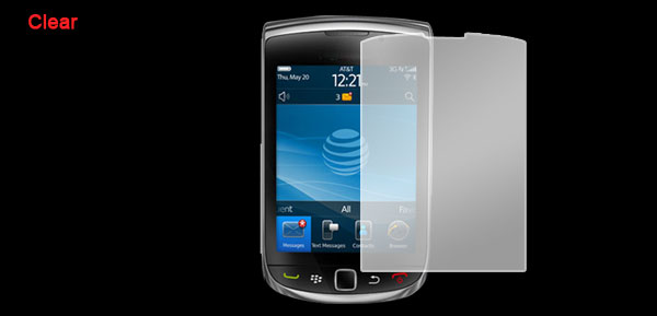 Clear LCD Screen Protector Guard for Blackberry Torch 9800