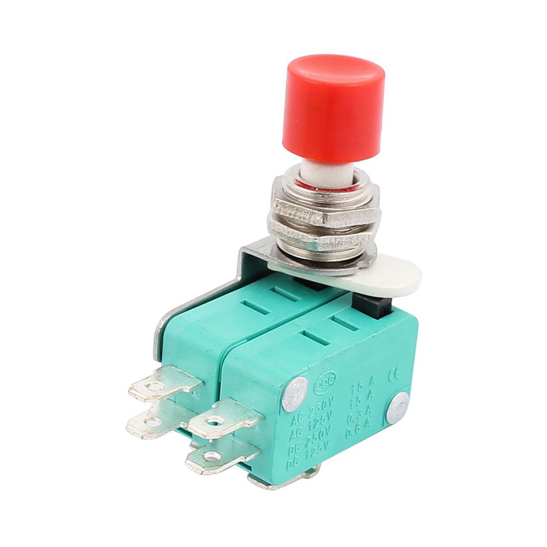 Druckknopf-Antrieb-6-Terminals-SPDT-ac-Mikroschalter