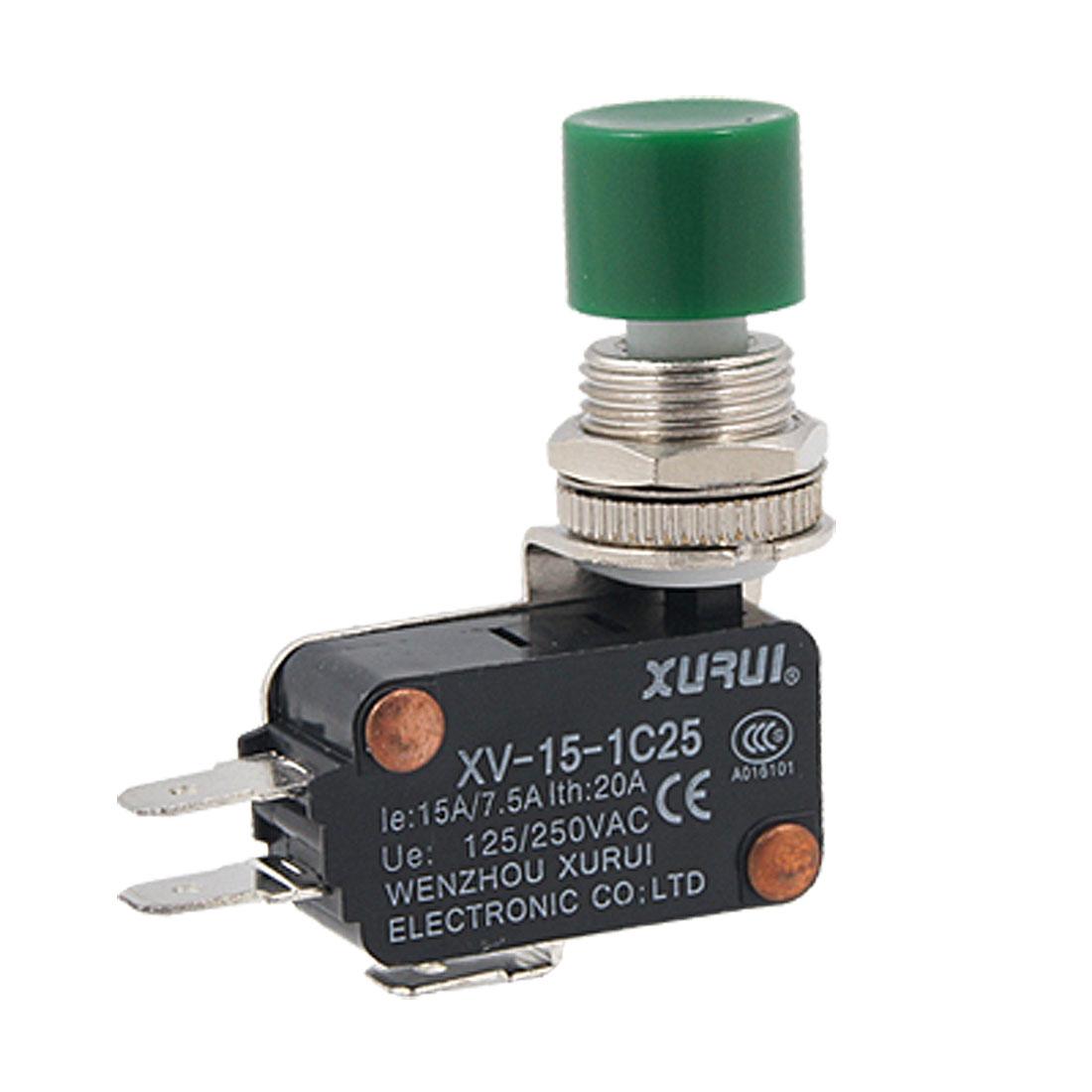 Druckknopf-Antrieb-Wechsler-AC-Miniatur-Mikroschalter
