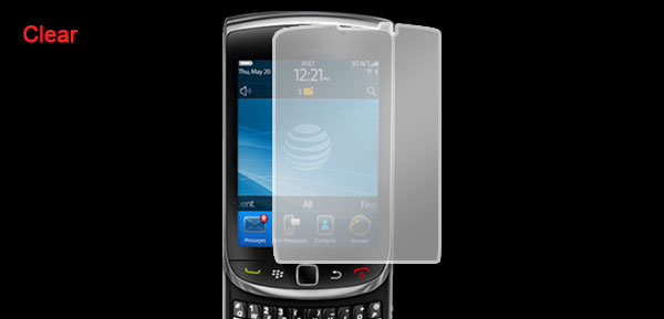 Clear LCD Screen Guard Film w Dust Cloth for BlackBerry 9800