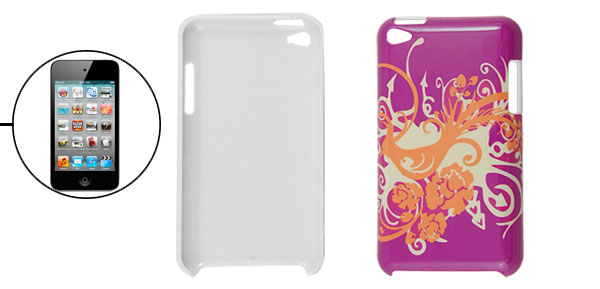 Phoenix Pattern Fuchsia Plastic Back Case for iPod Touch 4G