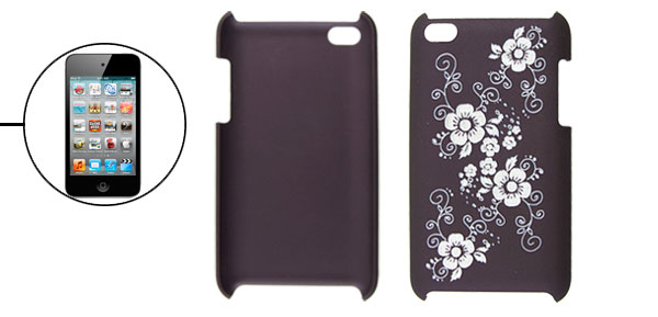 Plum Blossom Pattern Deep Purple Back Cover for iPod Touch 4G