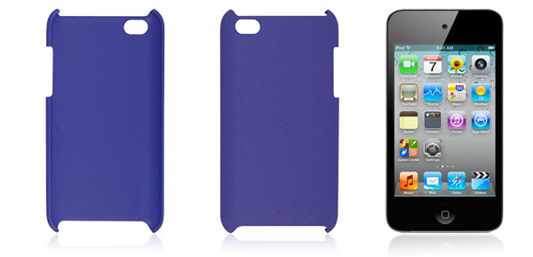 Protective Smooth Hard Blue Back Case for iPod Touch 4G