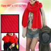 "Rectangle Shape Red 46"" Length Winter Knitting Neck Scarf for Lad..."