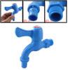 Blue Plastic Home Garden Quarter Turn Water Tap Faucet Dempw