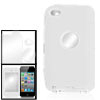 Silicone Hard Plastic White Shell Case for iPod Touch 4G
