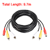 9.7m 32FT Video Audio RCA Power Cable Cord for CCTV Camera