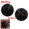 20 Pieces 26mm Bio Biochemical Ball Black for Aquarium Pond Filte...