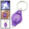 Handy Purple Cover F5-LED Bulb Keychain Keyring Flashlight
