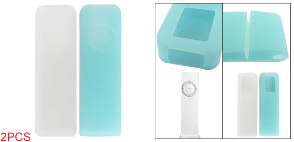 2Pcs Silicone Skin Protective Cover for iPod Shuffle 1G