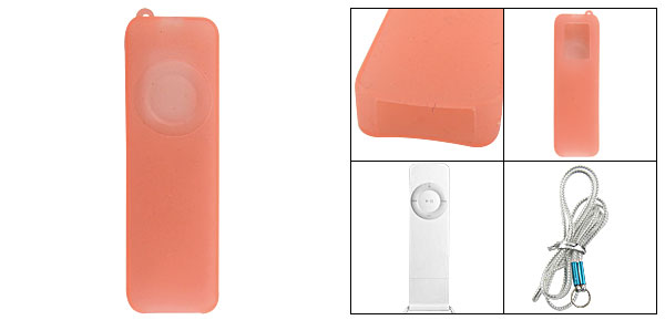 Orange Protective Silicone Skin Cover for iPod Shuffle 1G