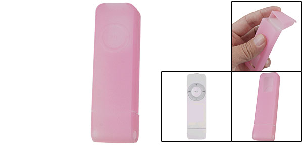 Pink Protective Silicone Skin Cover for iPod Shuffle 1G