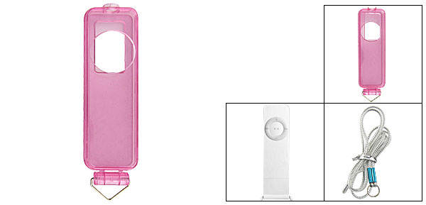 Clear Pink Hard Case Protector for iPod Shuffle 1G Gen