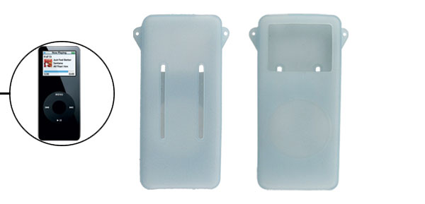 Clear Baby Blue Silicone Skin Cover for iPod Nano 1st Gen