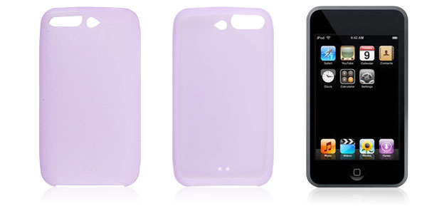 Light Purple Soft Silicone Case for iPod Touch 1G