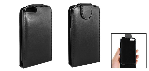 Black Faux Leather Protector Case Pouch for iPod Touch 2G