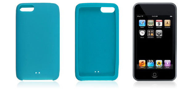 Silicone Skin Bondi Blue Case Shell for iPod Touch 1G