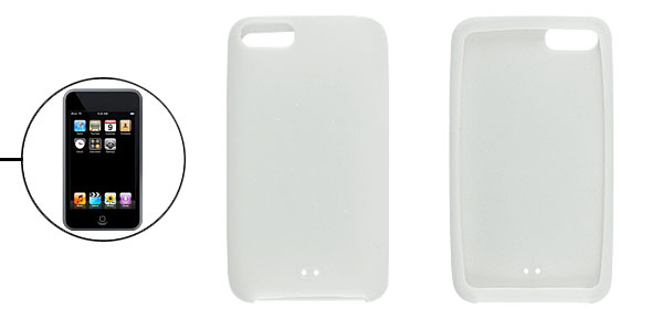 White Silicone Skin Soft Case Shell for iPod Touch 1G