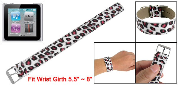 Gym Watch Band Leopard Pattern Wrist Strap for iPod Nano 6