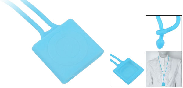Necklace Design Blue Silicone Cover for iPod Shuffle 4