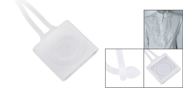 Clear White Silicone Lanyard Cover for iPod Shuffle 4