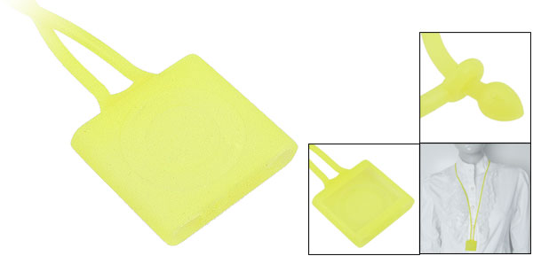 Lemon Yellow Silicone Lanyard Cover for iPod Shuffle 4