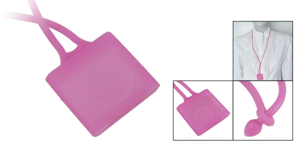 Necklace Design Silicon Case Fuchsia for iPod Shuffle 4