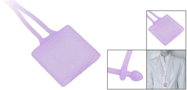 Lavender Silicone Neck Lanyard Cover for iPod Shuffle 4