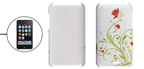 White Back Shell Flower Cover for iPod Touch 2G 3G