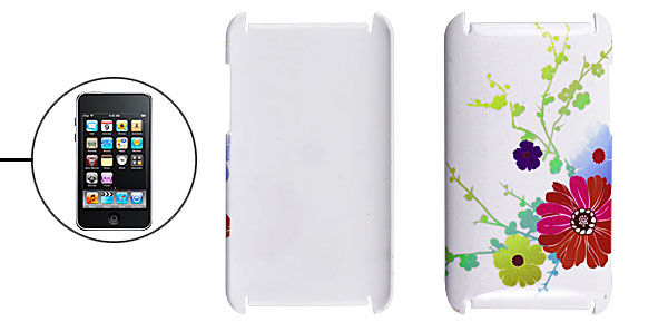 Flower Back Protector Cover White for iPod Touch 2G 3G