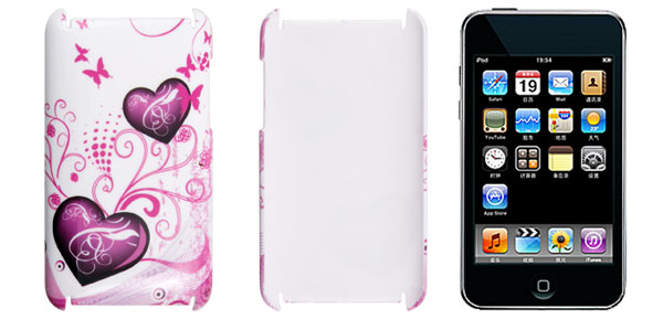 Pink Butterfly Back Case Cover for iPod Touch 2G 3G