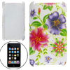 Hard Plastic Flower Motifs Shell Cover for iPod Touch 2G 3G