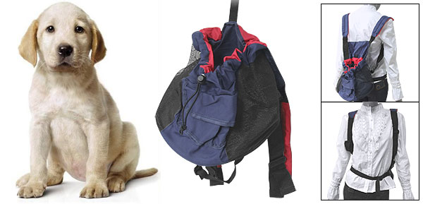 Dog Mesh Carrier Adjustable Double Shoulder Backpack