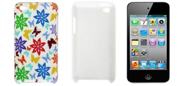 IMD Colorful Butterfly Flower Hard Plastic Back Case for iPod Touch 4