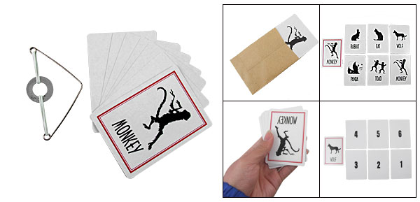 Pocket Cards Animal Prediction Ghost Magic Monkey Wolf Trick Set