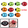 10 PCS Colors Plastic Sleeping Ladybug Magnetic Sticker