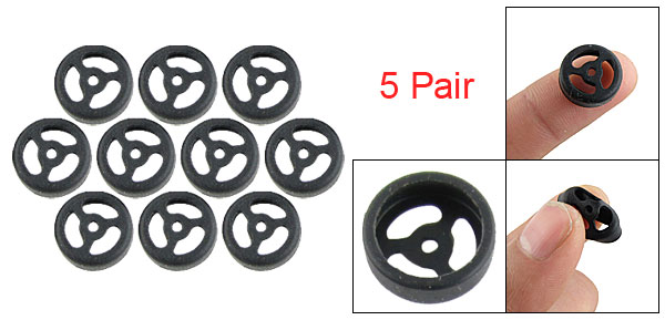 Black Replacement Ear Buds Silicone Cover for bluetooth Headset