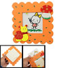 "2.8"" x 2.8"" Orange Wooden Mushroom Snail Decor Square Picture Fra..."